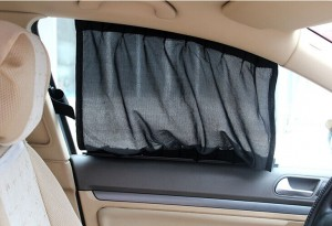 黒い太陽の保護2014年新しい車のサンシェード側スライディングレール付きccl01-b車の窓のカーテン-送料無料